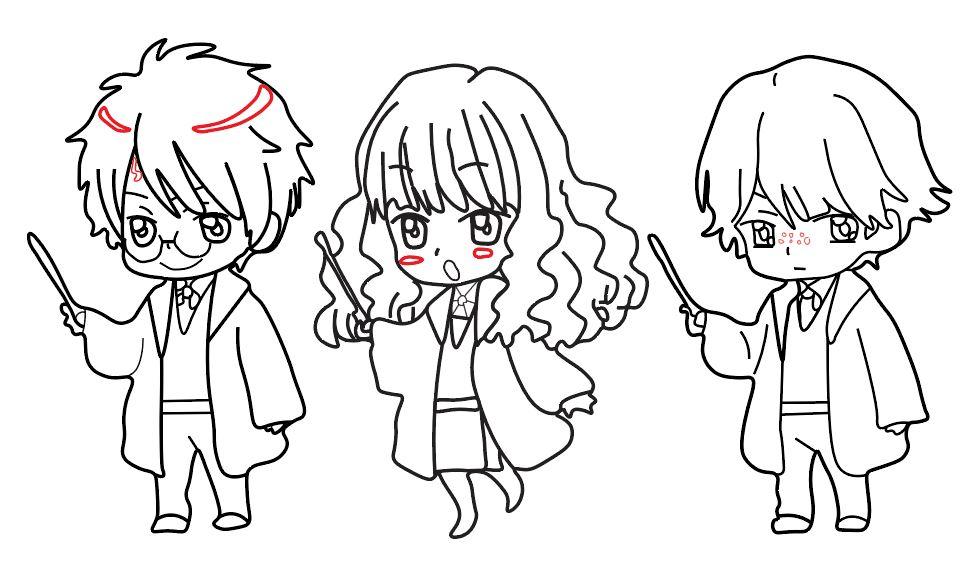 les trois sorciers réunis
